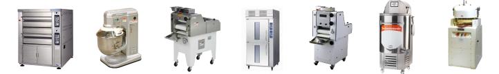 デッキオーブン、ミキサー、分割・丸め機、モルダー、ホイロなどベーカリー機器の買取品目